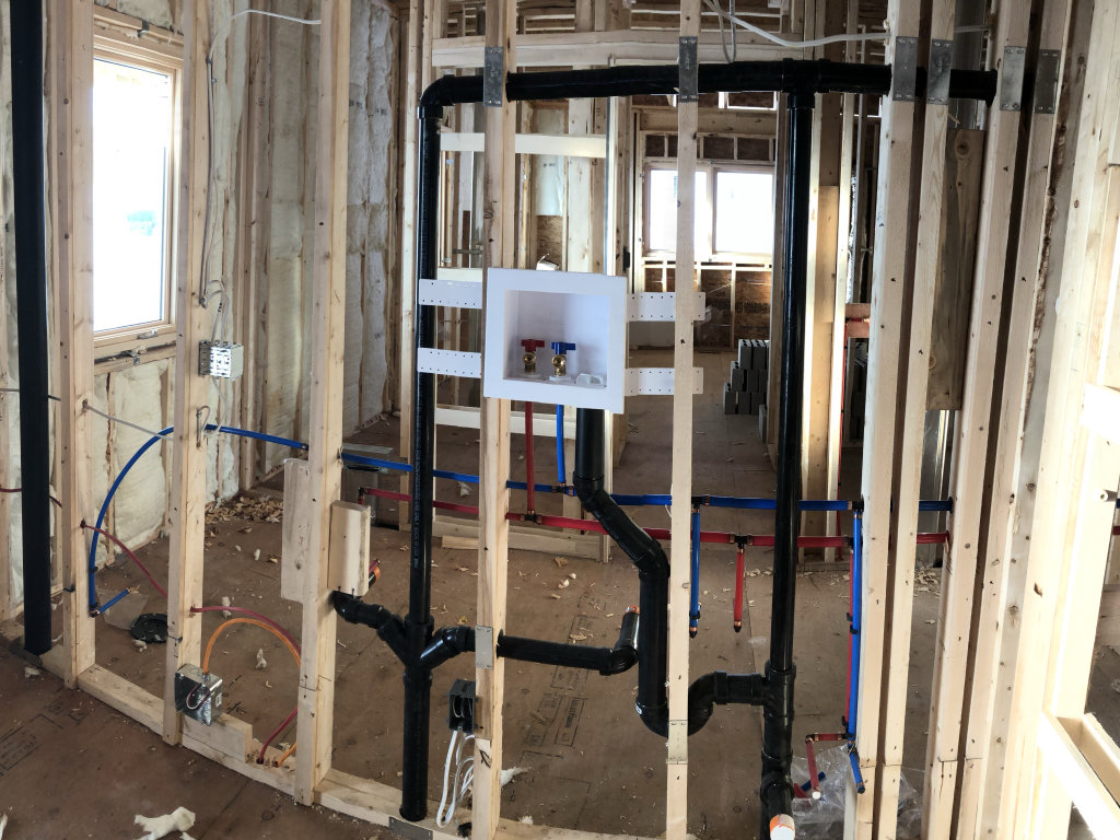 new homes plumbing work