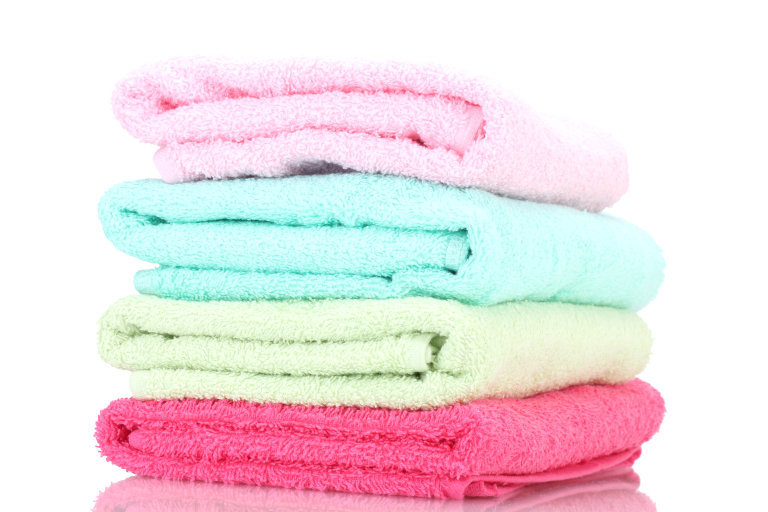 colorful towels in stack