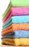 colorful clean towels in a stack