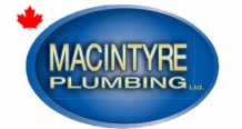 macintyre plumbing logo with maple leaf